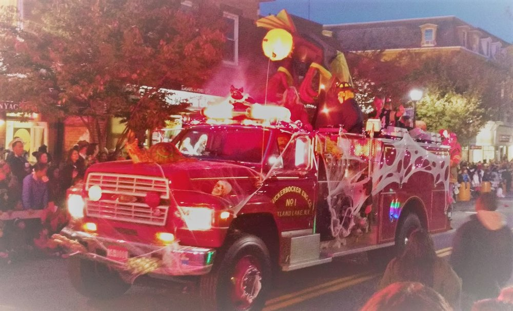 Nyack Halloween Parade - The Nyack Chamber of Commerce will host its 31st annual Halloween Parade on Saturday, October 27 from 5:30 to 7:30 pm (rain date Sunday, October 28) in the heart of Nyack. Festivities begin at 3:00 pm. The event, organized by the Chamber and sponsored by leading local merchants, is the largest parade of its kind outside New York City, second only in magnitude to the Greenwich Village event. It was voted the 4th Best Halloween Parade Nationwide by the Travel Channel. The event features marching bands, festooned fire trucks, floats and a host of costumed revelers — with serious cash prizes, totaling over $2,000, going to the most creative among the parade's participants. All are welcome to march and register for prizes. Before the parade at 2 p.m. come on down to Main Street for the Trick or Treat trail, where kids can stop in for goodies at the local shops. There will also be a dance party after the parade. These are free events.
