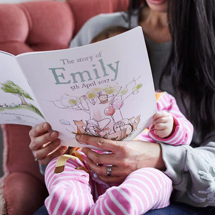 Personalised Baby Story Book   : £22  Choose colours, names and lots of other personalised elements for your book   - Letterfest