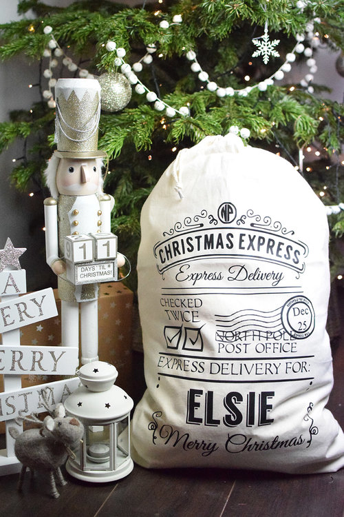 191c50e76 Personalised Santa Sack : £18 A personalised Santa Sack can be used year  after year