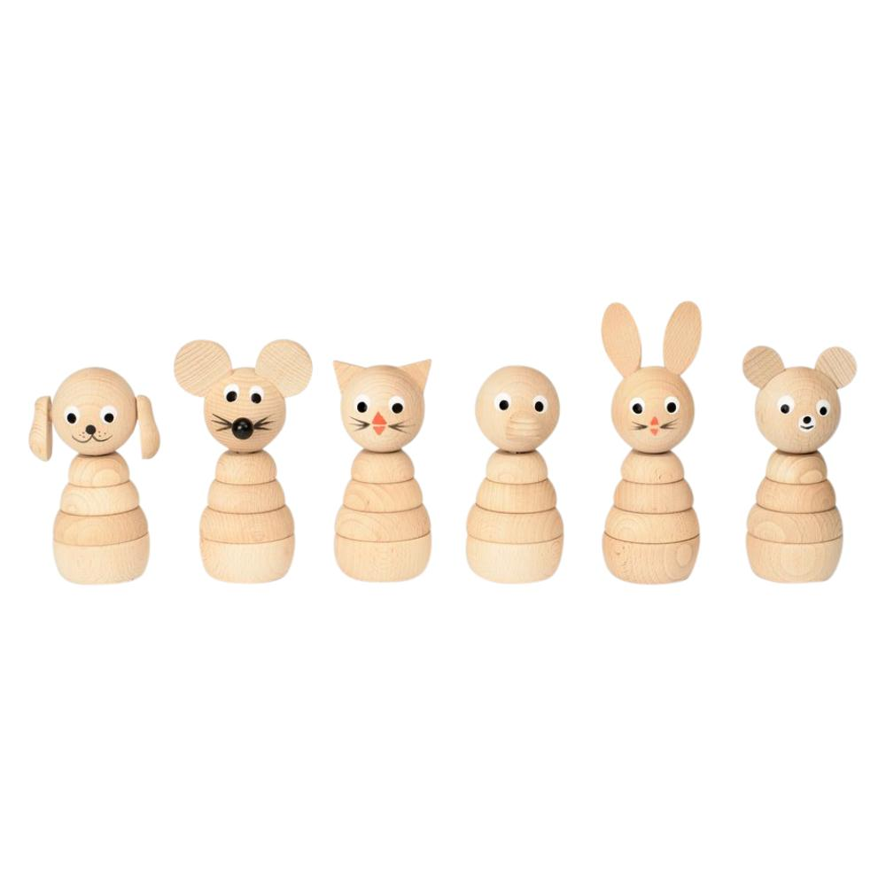 Set of 3 Natural Wooden Toys   : £29.50  I particularly like the mouse and the bear!   - Sarah and Bendrix