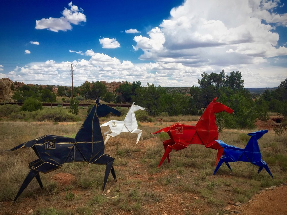 Four Horses - Kevin Box Sculpture Garden, NM