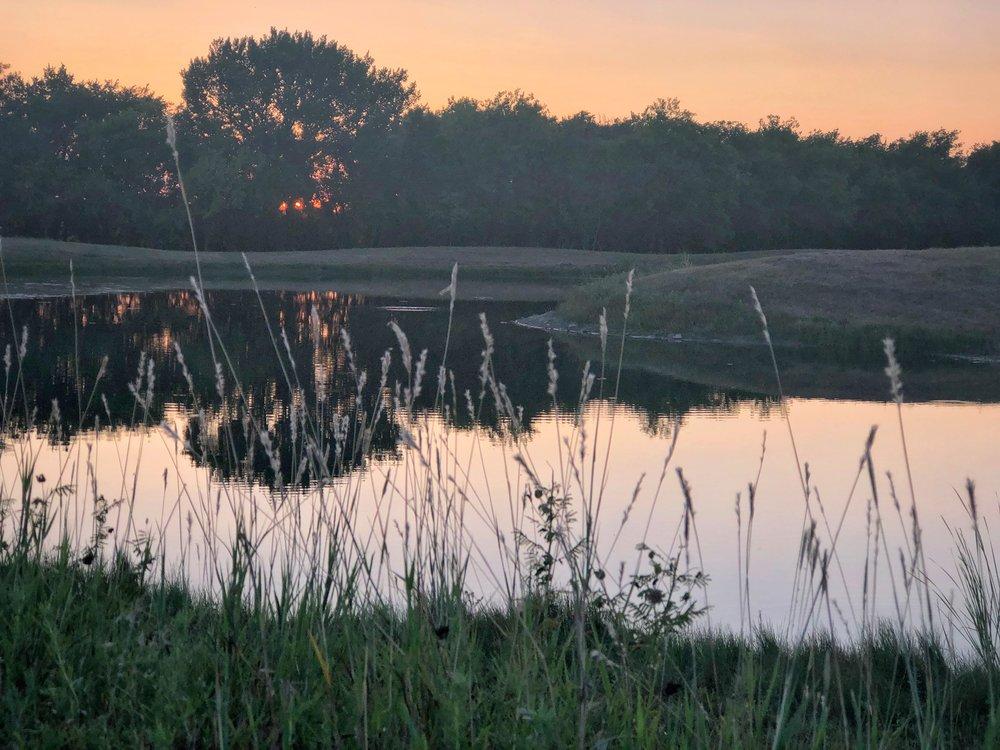Bixby Pond, Sunset
