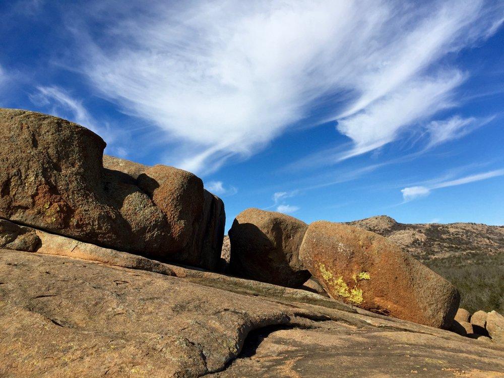 Wichita Mountains - Rocks on Angle