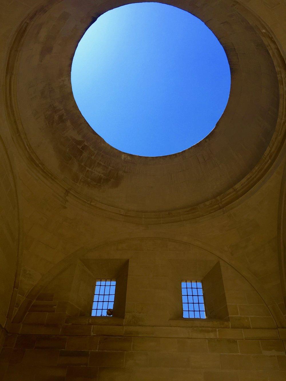 Spain Church -Blue Circle