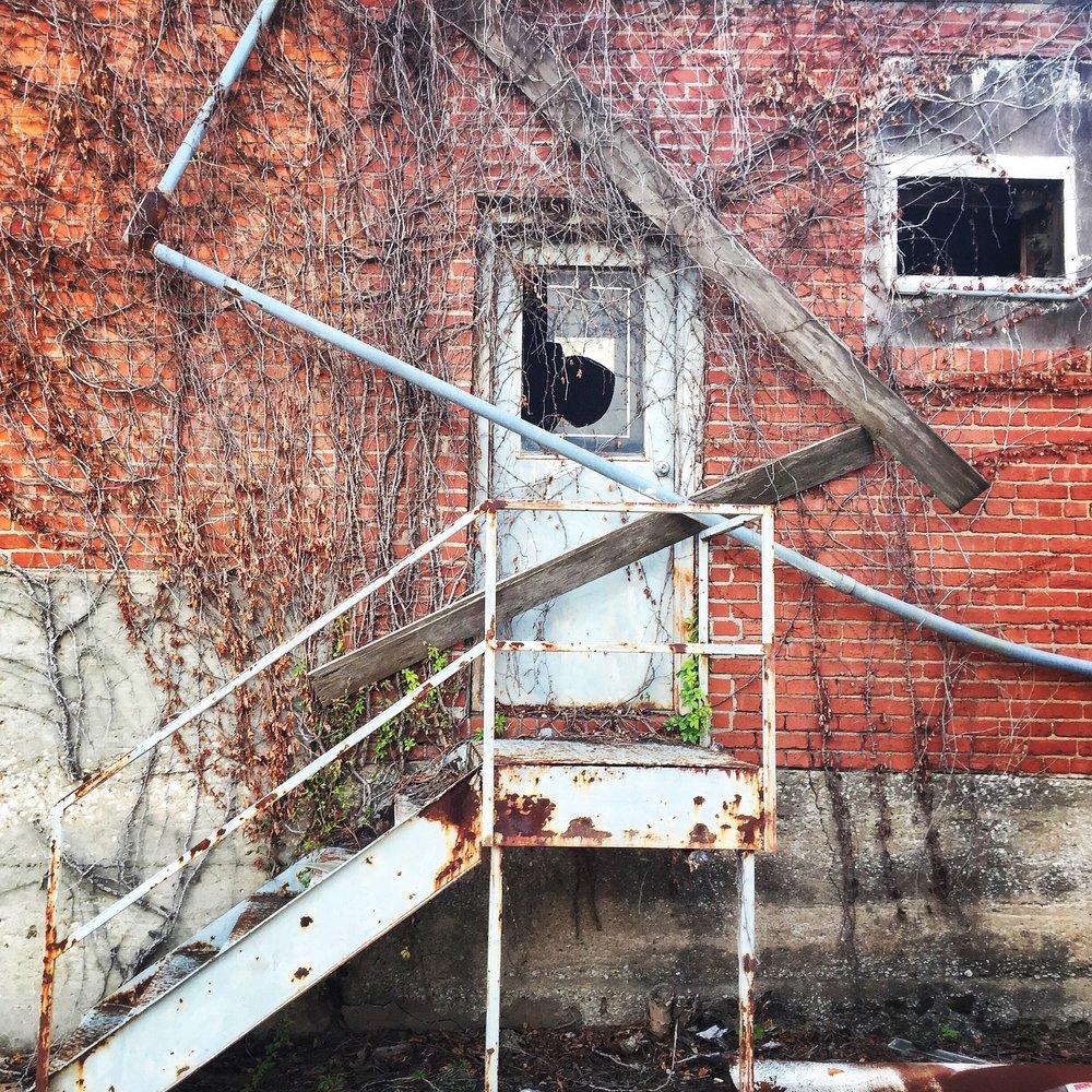 Warehouse Door - Broken Window