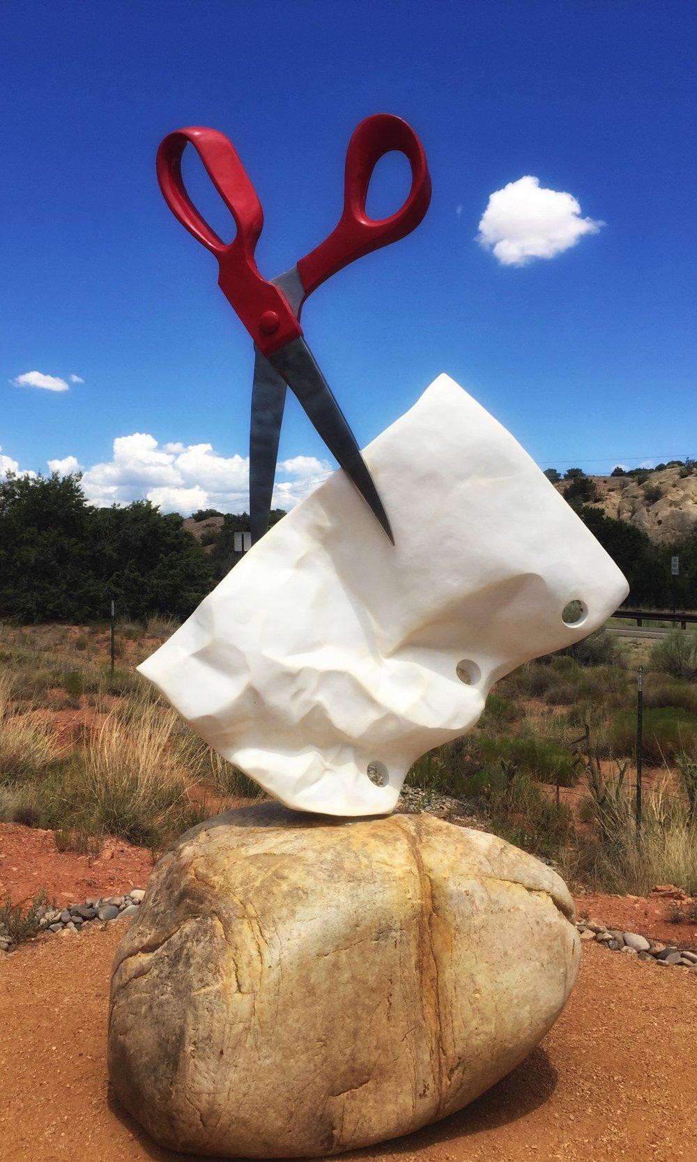 Rock, Paper Scissors - Kevin Box Sculpture, NM