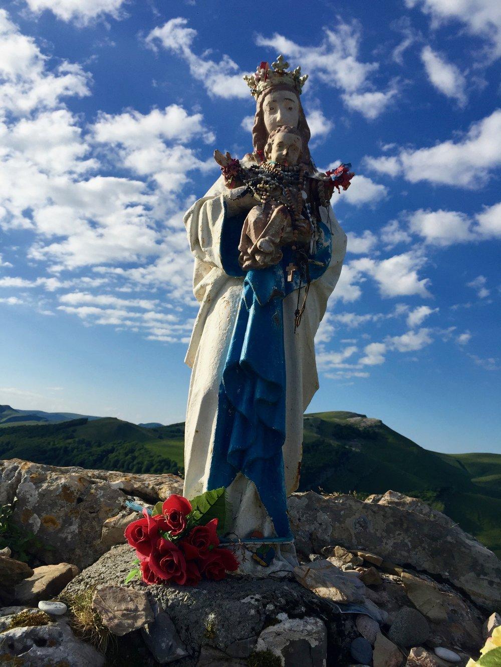 Mary Statue, Pyrenees, Camino de Santiago