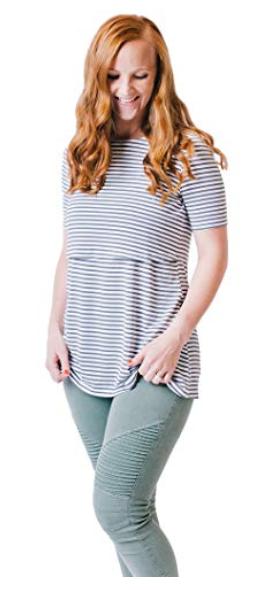 Undercover Mama flowy nursing shirt - $30.00
