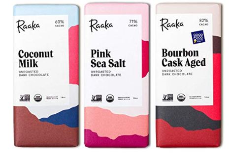 Raaka fair-trade chocolate - $4.98 each