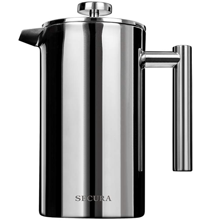 Secura stainless steel French press coffee maker - $29.98