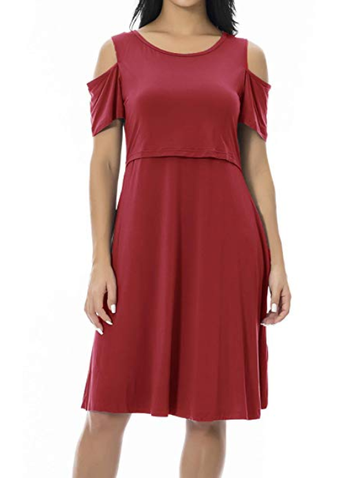 Smallshow cold shoulder nursing dress - $19.99