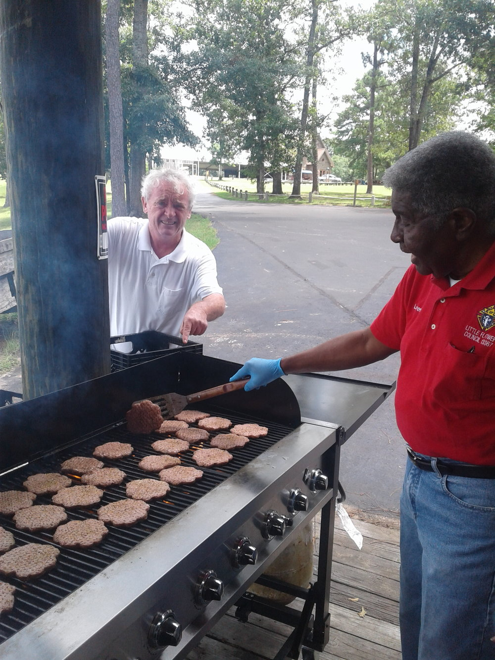 Knights of Columbus at Camp Smile