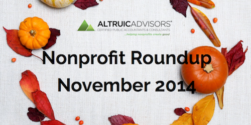 Altruic Advisors Nonprofit Roundup November 2014