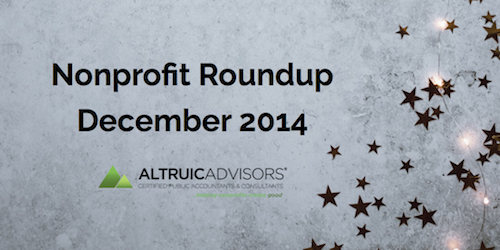 Nonprofit news and events December 2014