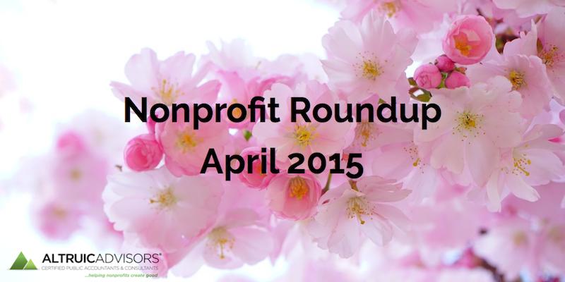 Nonprofit Roundup April 2015