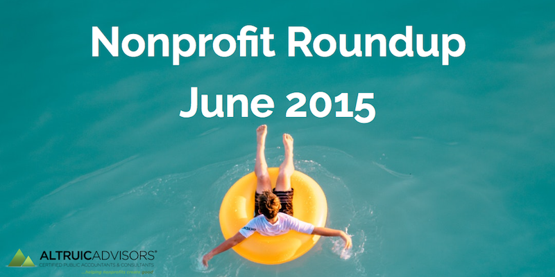 Nonprofit Roundup June 2015
