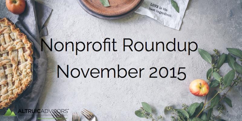 Nonprofit Roundup November 2015