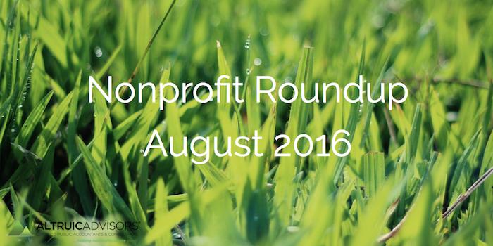 Nonprofit Roundup August 2016