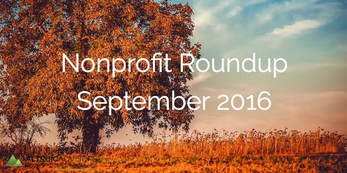 Nonprofit Roundup September 2016