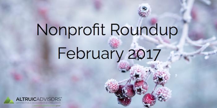Nonprofit Roundup February 2017