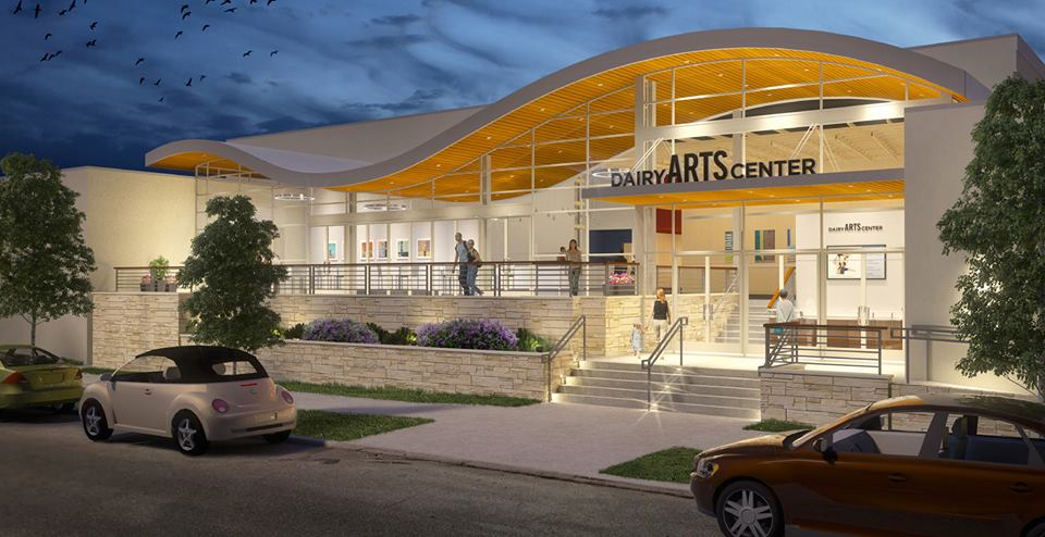 Artist's rendering of the renovated Dairy Arts Center in Boulder, Colorado.