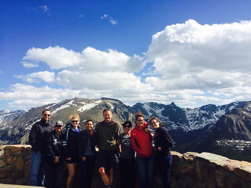 Altruic Advisors staff members pose for a photo in Rocky Mountain National Park.