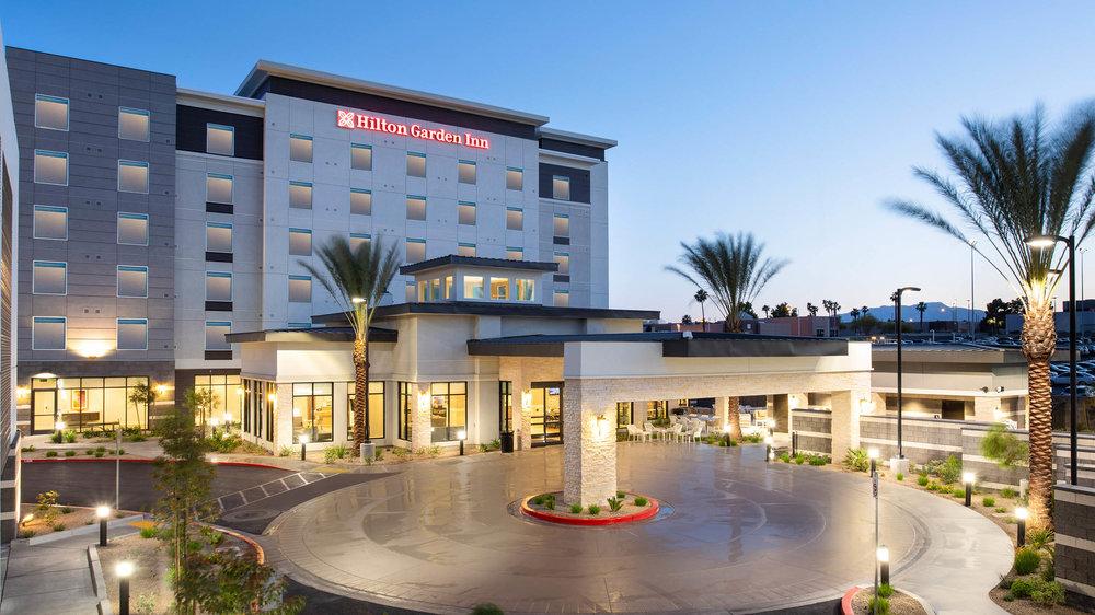 LASLGGI Hilton Garden Inn Las Vegas Exterior Dusk 2500.jpg