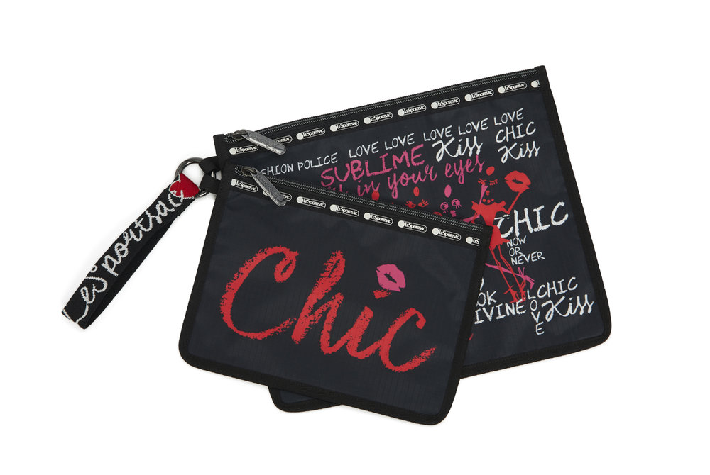Duo With Me Hot Pink Maya Pouch Set $73