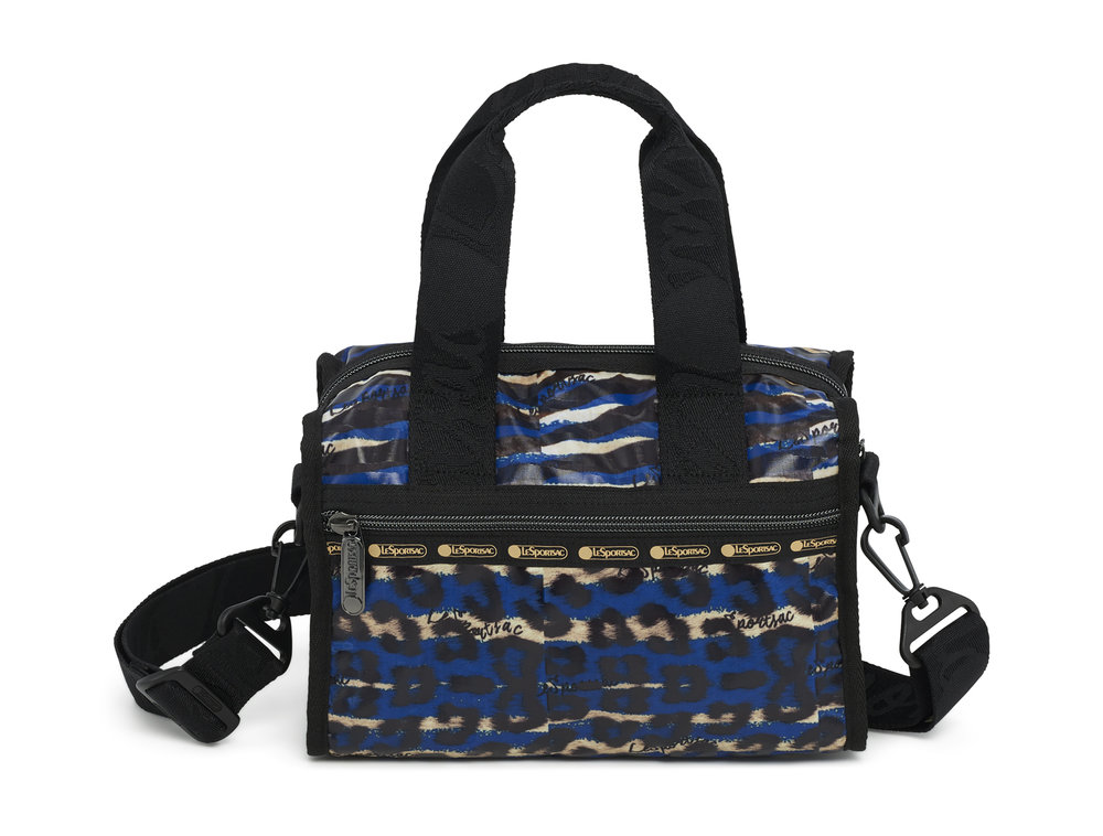 Wild Graffiti Blue Emma Satchel $128