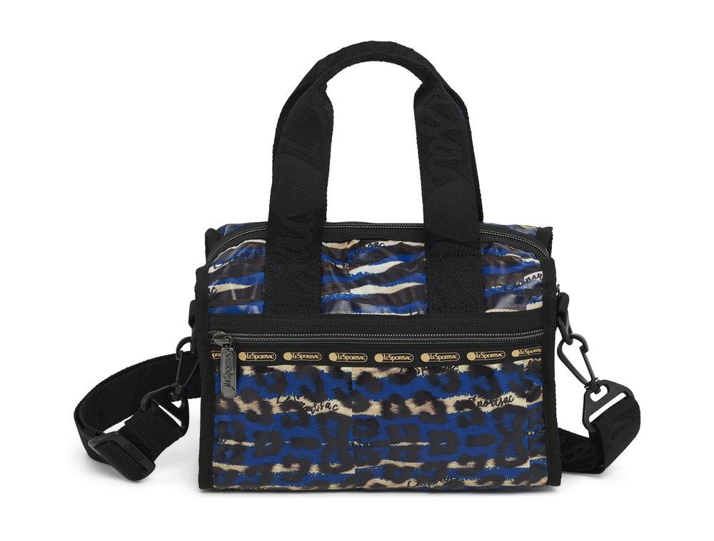 Wild Graffiti Blue Emma Satchel $128