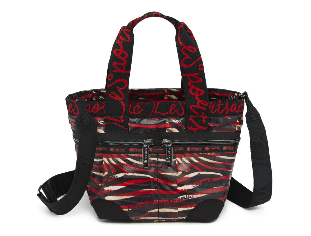 Color Me Zebra Red Small Manon Tote $140