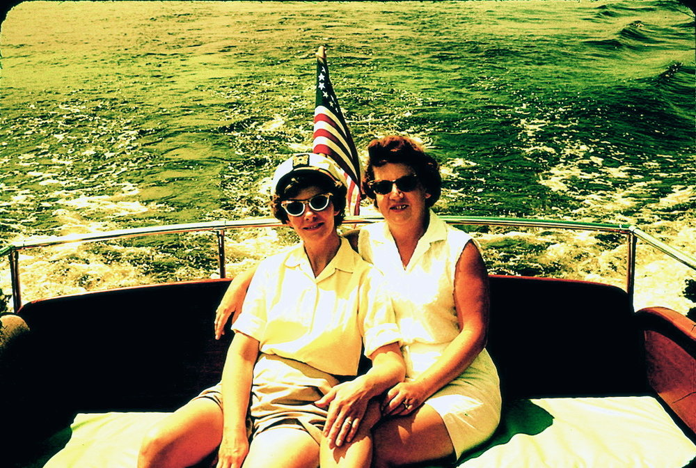 Marion Rafferty and Gladys Minder on the St. Croix