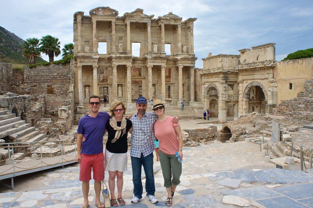 Matt, Kathy, Tom and Ashley in Ephesus