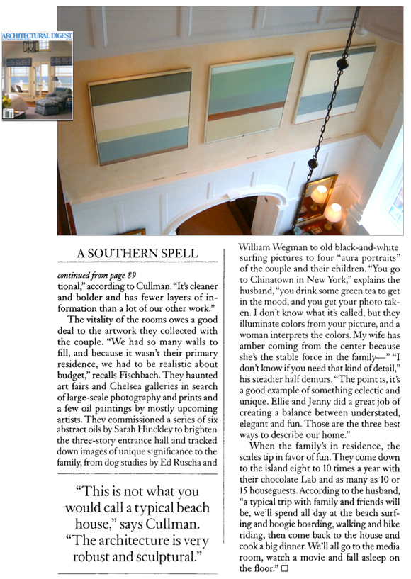 Architectural Digest, July 2007