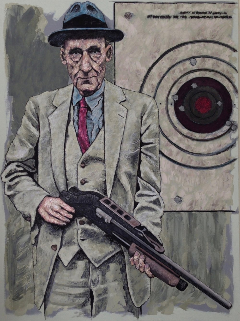 "william s. burroughs 40x30"" oil on canvas"
