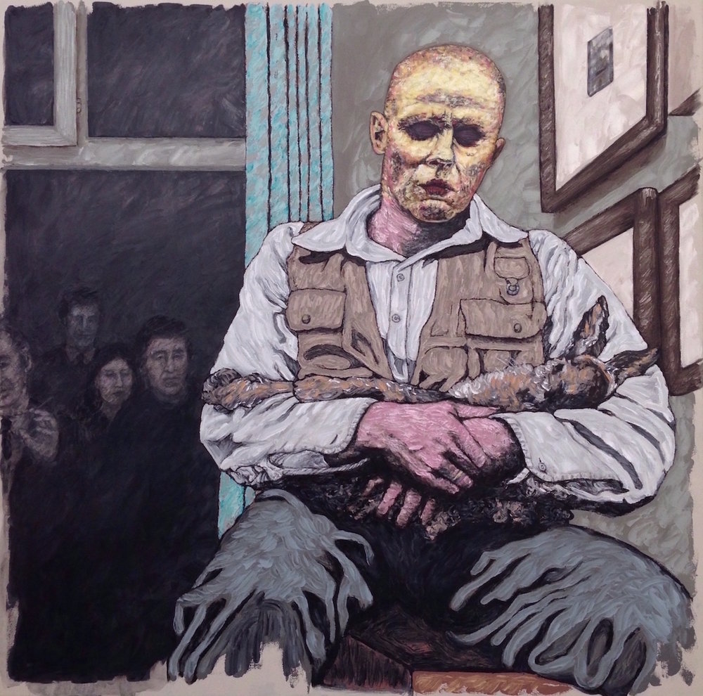 "joseph bueys 36x36"" oil on canvas"