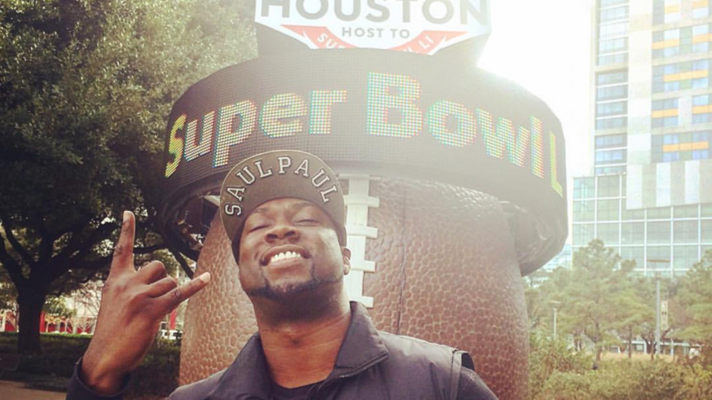 // SaulPaul at the 2017 Super Bowl in Houston, TX