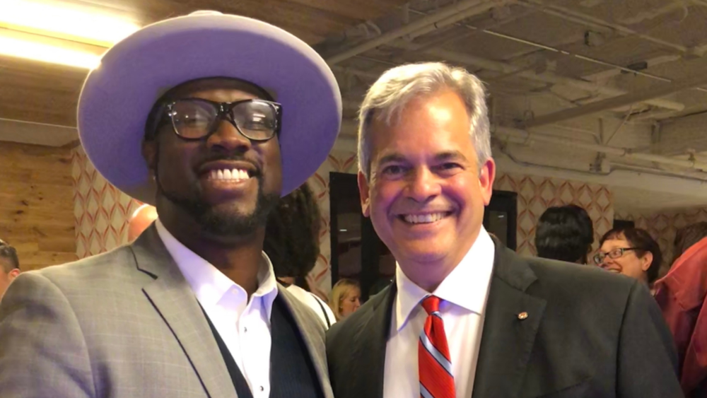 // SaulPaul and Austin Mayor Steve Adler