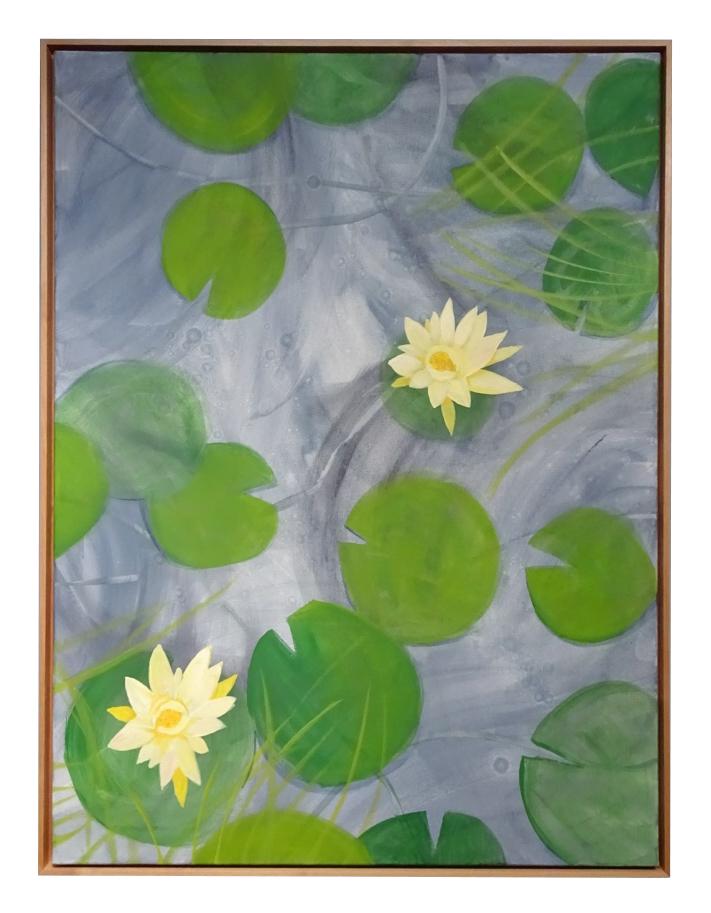 """""""Zen Garden with Yellow Lilies"""""""