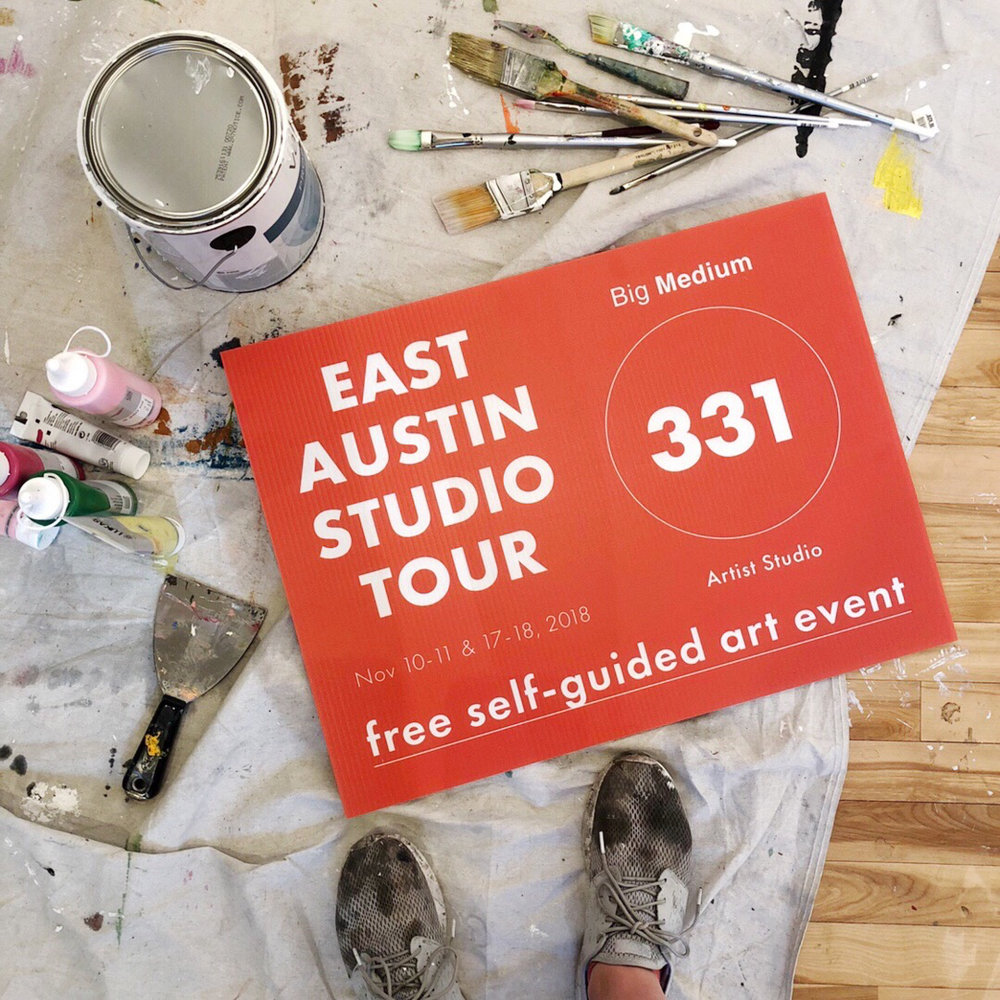 """EAST Austin Studio Tour - UPDATE: Weekend 2 cancelled due to unforeseen conflict.  Nov 10-11 & 17-18, 2018 