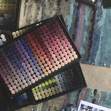 Over 1,000 different colors are available to create your custom carpet