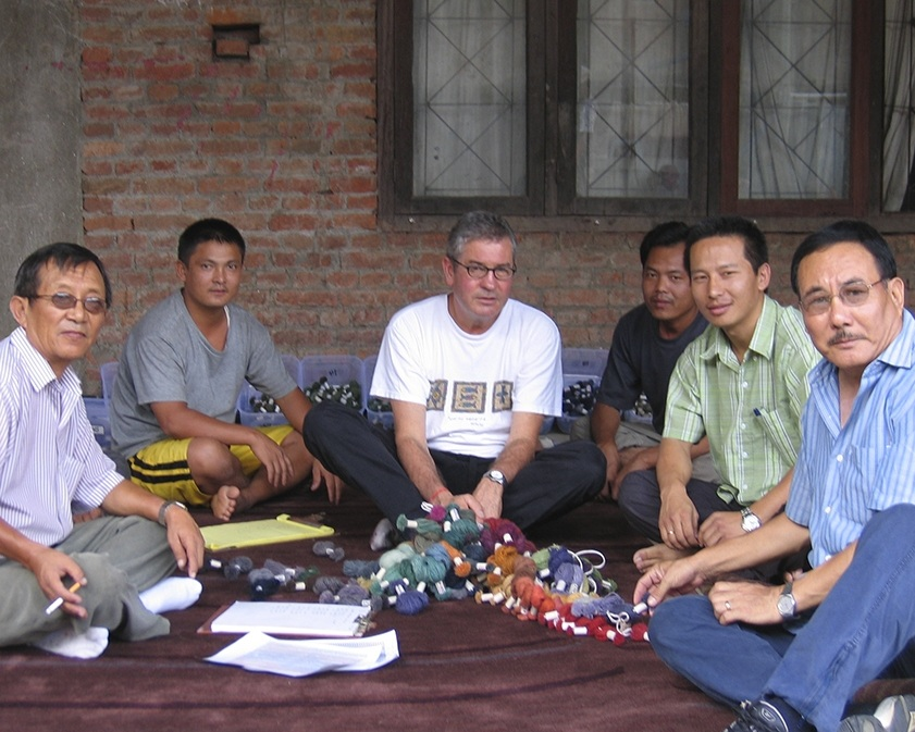 Jim and TRC's Tibetan partners in our factory in Kathmandu