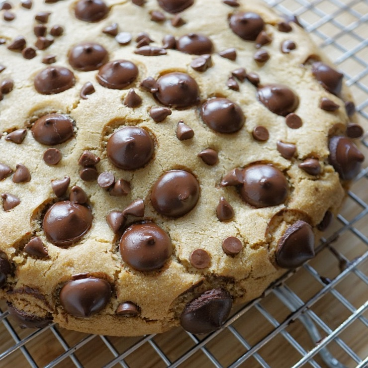 Chocolate Chip Cookie stuffed with Salted Caramel
