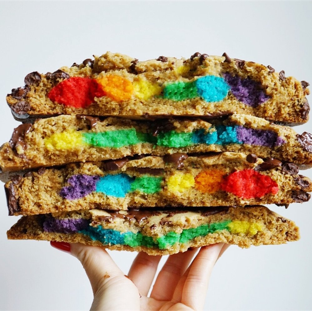 Chocolate Chip stuffed with Rainbow Sugar Cookie