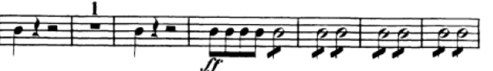 """This passage from the overture to """"Le nozze di Figaro"""" is commonly rushed due to the lack of attention to the rests. Shared with the permission of the  International Music Score Library Project"""