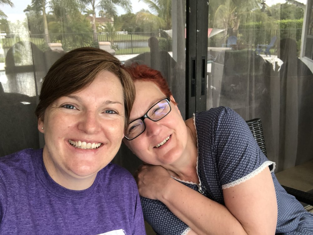 My aunt and I enjoying breakfast on the deck.   April also brought some soul-searching due to work stress which was no fun but looking at it in hind-sight I can say that it ultimately was for the best. More on that later...