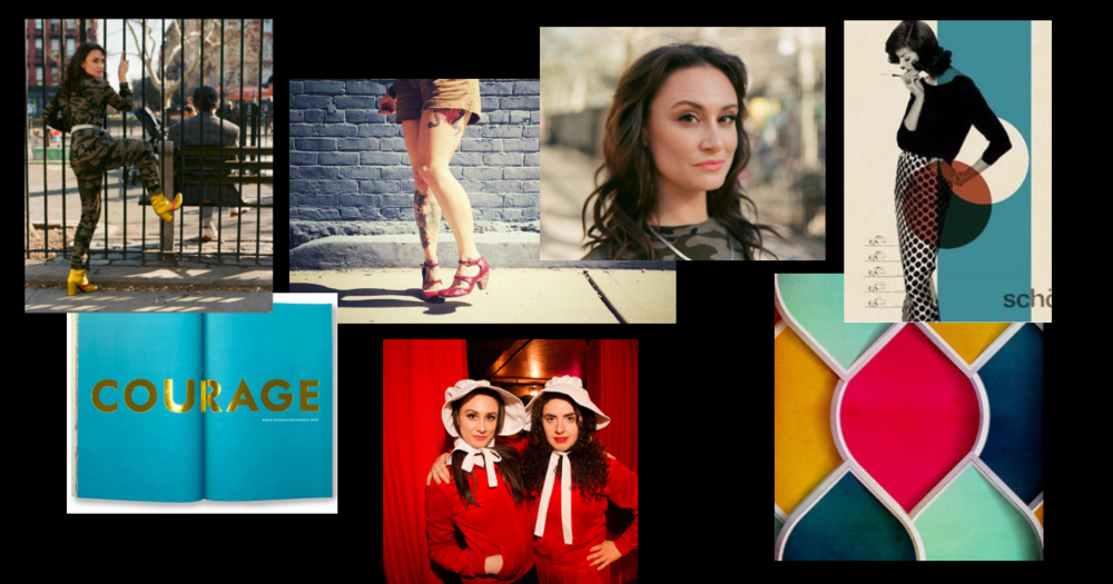 nyc comedian brand design mood board