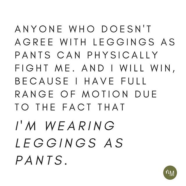 Agree / disagree? I actually am on the fence. i work from home so I'm in loungewear all. The. Time. I don't usually wear leggings as real pants (aka, I wear a top that covers my bum while sporting said leggings) but I don't fault people who wear them as pants - unless it's nude/flesh colored leggings. That's a step too far... BUT, no matter your view on how leggings should be worn, you should check out my story on @wellinsiders about the NEXT phase of athleisure. Something big is shifting and I talked to @nine56_studio and @zanni.la about it. Hop to that link in my profile to read more! #leggings #athleisure #workoutgear