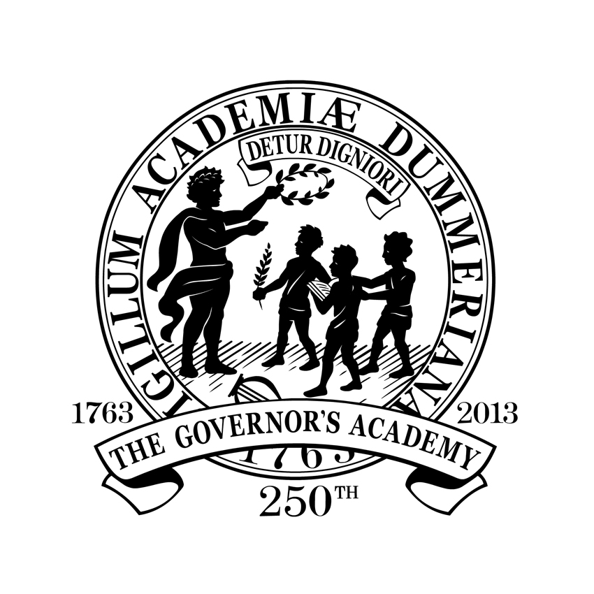 The Governor's Academy - 250th Commemorative Logo, Byfield, MA