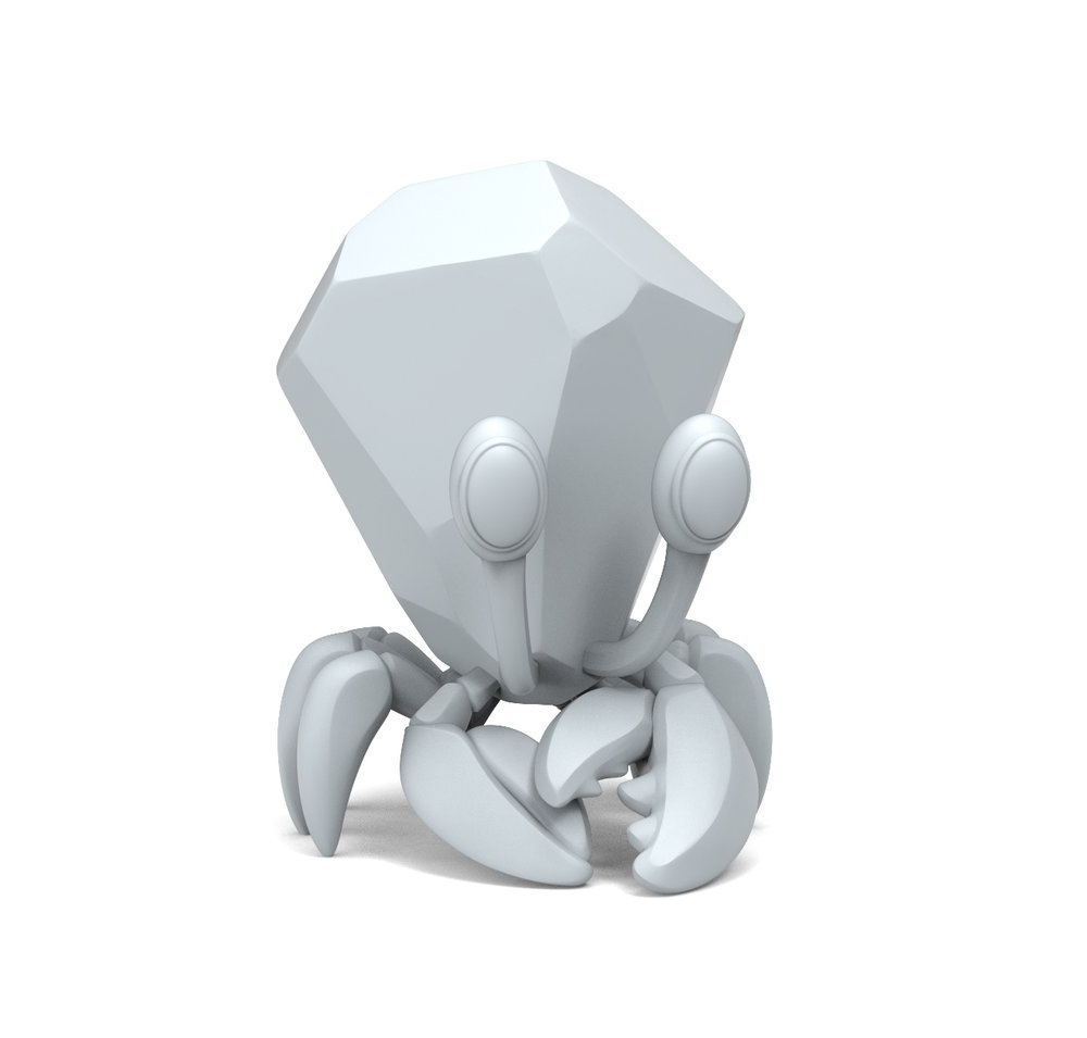 ZBRUSH MODEL - JEWEL CRAB #2 (D&D MASCOT)